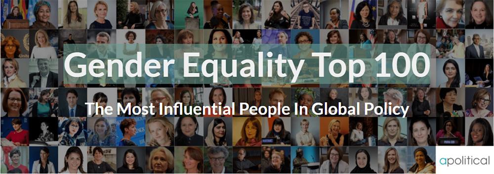 у ТОП-100 Гендерна рівність: найбільш впливові у глобальній політиці